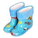 nikec Botas de lluvia para niños, con estampado de dibujos animados, impermeables, con muelle de goma antideslizante