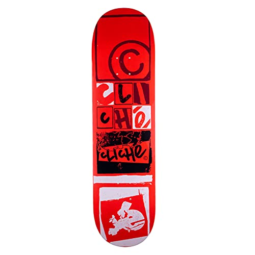 Cliché Skateboard Deck Letter Press RHM 8.25