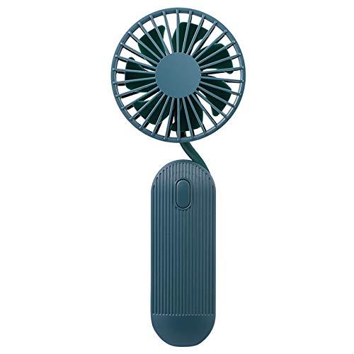 Ventilador de mano Portátil, mini ventilador USB portátil plegable, ventiladores eléctricos de mano con 3 modos de velocidad, ventiladores de escritorio silenciosos para viajes al aire libre,Verde