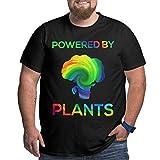 Powered by Plants Camiseta Vegana de algodón de Manga Corta con Estampado 3D de Gran tamaño para Hombre