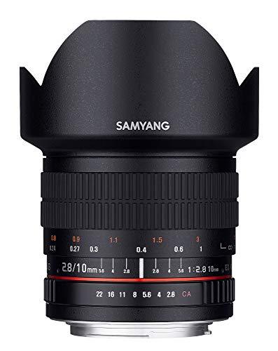 Samyang 10mm 1:2,8 ED AS NCS CS Superweitwinkelobjektiv (feste Gegenlichtblende) für Canon EOS EF (APS-C) schwarz