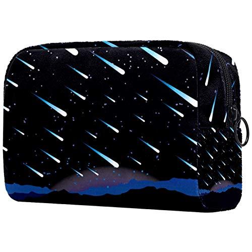 KAMEARI Kosmetiktasche Meteor Shower Große Kosmetiktasche Organizer Multifunktionale Reisetasche