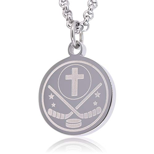 Prayer Necklace Crafted in Stainless Steel with Luke 1:37 on The Back,...
