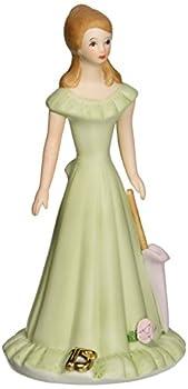 "Enesco Growing Up Girls ""Brunette Age 15"" Porcelain Figurine 7"""