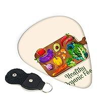 健康的な有機食品 ターピック フォークポップギター ギウクレレ 色 ギターアクセサリー 6個