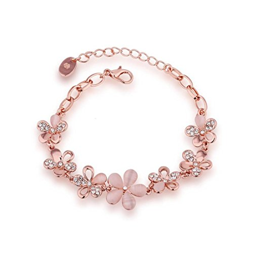 YouBella Ethnic Bollywood Rose Gold Plated Bracelet Bangle Jewellery for Women and Girls