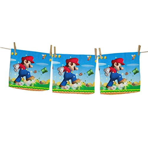 Yynn Game Super Mario Toallas de mano – Toallas cuadradas...