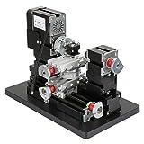 60W Mini Rotating Lathe,12000RPM Metal Rotating Lathe,Mini Lathe Machine Lathe Machine Tools,for...