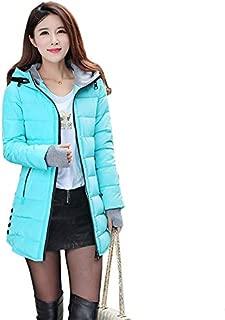 Women Winter Duck Down Long Coat Hoodie Thicken Coat Long Sleeve Cotton Outerwear