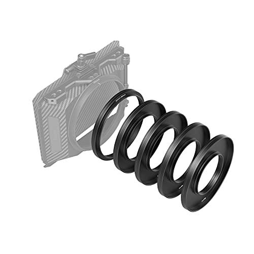 SMALLRIG Lens Adapter Ring Kit de Anillos Adaptadores de Lentes(Φ52 / 55/58/62 / 86-95mm) para Mini Matte Box 3196 - 3383