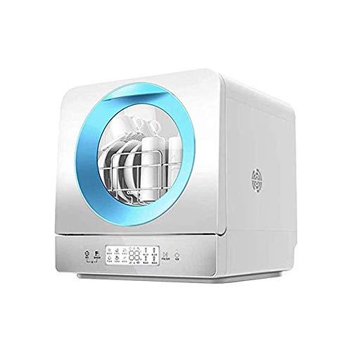 LKNJLL Complete Portable Lave-Vaisselle avec 5 Countertop litres intégré Réservoir d'eau, 6 programmes, Soins de bébé, en Verre et Fruit Wash