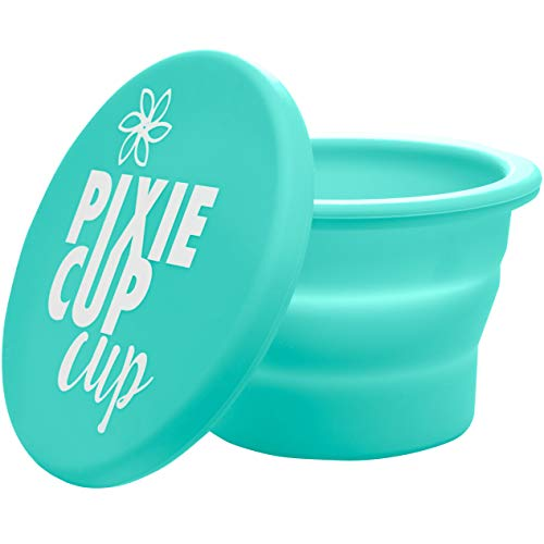 Pixie Zusammenklappbar Silikon Cup zum Sterilisieren Menstrual Cups und Speichern Ihrer Diva Cup faltbare für Reisen Teal