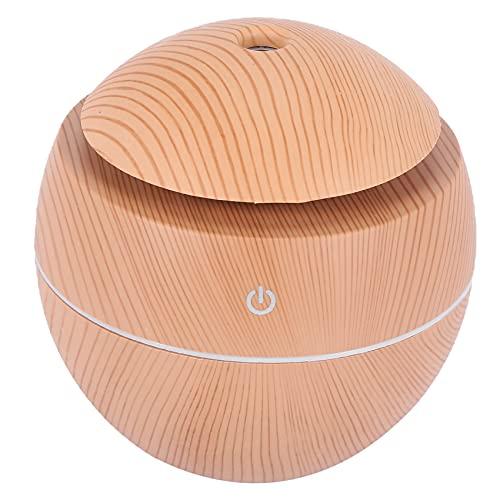 Basage Humidificador de Aroma USB Difusor de aceites Esenciales Humidificador ultrasonico de Niebla Fria Purificador de Aire 7 Color Change LED Luz de Noche: Madera Clara