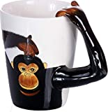 Affen Tasse/Kaffee-Becher/Monkey Mug/3D-Motiv/Keramik-Tasse-Schimpanse