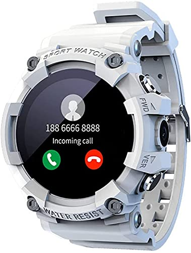 l b s SKY Smart Watch SOS One-Key Emergency 4G Call Clock Sport Fitness Tracker Cámara Bluetooth Reloj Hombres para Android IOS (A)