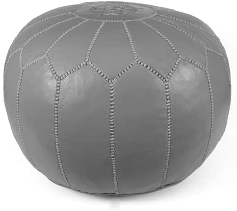 High material Moroccan Pouf Pouffe Ottoman : Grey Year-end gift Poof Color