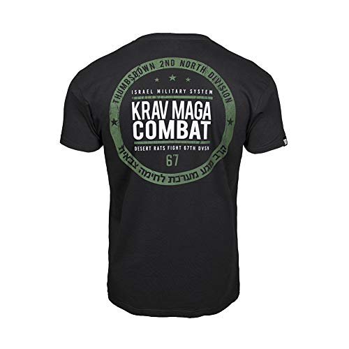 Thumbs Down Homme T-Shirt. Krav Maga Combat. Israel Military System. Martial Arts. Casual (Taille Medium)
