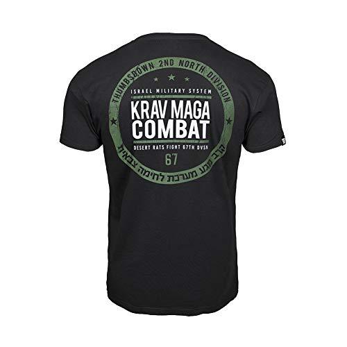 Thumbsdown Pulgares Down Krav Maga Combat Camiseta Israel Militar Sistema MMA. Gimnasio Entrenamiento. Marcial Artes Informal - Negro, Medium