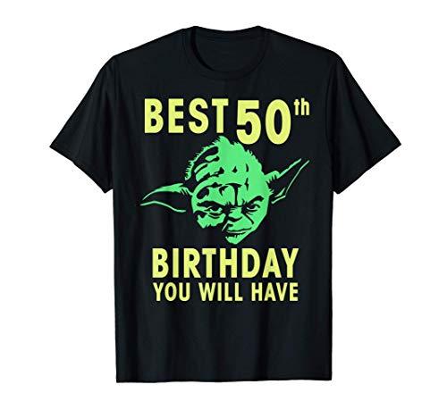 Star Wars Yoda Best 50th Birthday You Will Have Stencil Camiseta