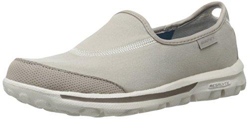 Skechers Performance Women's Go Walk Slip-On Walking Shoe, Natural, 10 W US