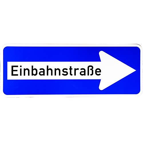 """ORIGINAL Verkehrsschild Nr. 220 - 20 """" Einbahnstraße rechtsweisend """" 300 x 800 mm Verkehrszeichen Schild Straßenschild Zusatzschild Verkehrsschilder Verkehrsschild Straßenzeichen rechts Einbahnstrasse"""