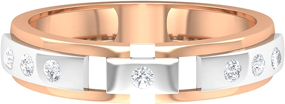 Vintage IJ-SI Color Clarity Diamond Engagement Rings, 14k Mix Metal IGI Certified Diamond Wedding Anniversary Band, Bridal Matching Promise Rings Sets