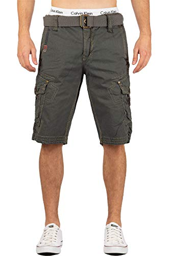 Geographical Norway - Pantalón corto para hombre, incluye cinturón