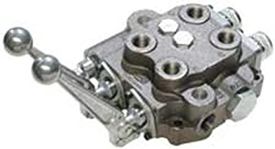 "CROSS Manufacturing 144342 SBA Series Cast Iron Double Spool Monoblock Hydraulic Directional Control Valve, 1st Spool 4-Position Float, 2nd Spool 3-Position, Closed Centered, 3/4"" x 3/4"" x 1/2"" NPT Female, 2500 psi, Grey by CROSS Manufacturing"