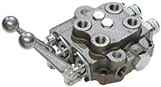 CROSS Manufacturing 138650 SBA Series Cast Iron Double Spool Monoblock Hydraulic Directional Control Valve, 3-Position, 4-Way, Closed Centered, 3/4