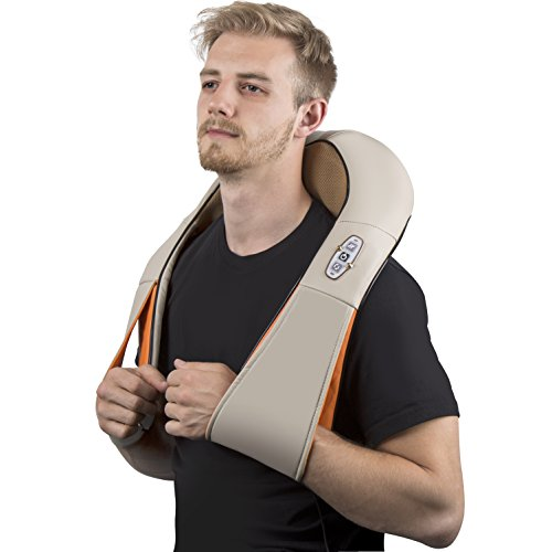 Shiatsu Massager - Neck And Shoulder Massager - Foot & Back Massager W/ Heat,Pain Relief And Relaxing, Comfort, Eliminate Muscle Soreness - Adopter Home, Office, Car