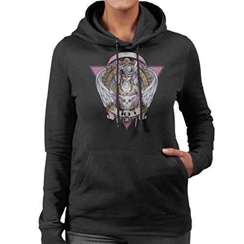 Cloud City 7 Light Gatomon Angewomon Digimon Women's Hooded Sweatshirt