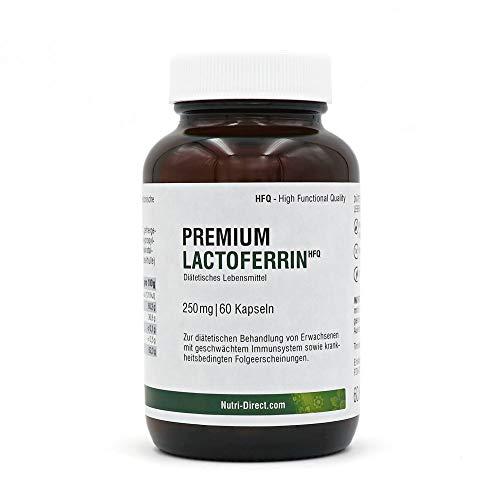 Lactoferrin 250mg 60 Kapseln magensäureresistent, natürlicher Premium Eisenlieferant für das Immunsystem, hochdosiert