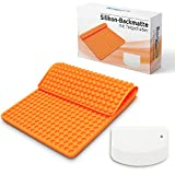 BonAura® Backmatte Silikon statt Backpapier - Silikonmatte als Backform für Mini Halbkugel Hundeleckerli - Wiederverwendbare Mehrweg Backmatten einfach als Backunterlage benutzen - Inklusive eBook…