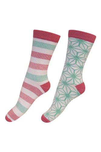 Melton 2er Pack socks starline Rot, 23-26, Coralrot
