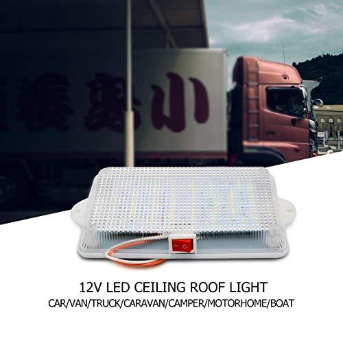 Riloer Luz de Techo de 24V LED, Lámpara Interior AU de la Cabina de la Bóveda para el Barco de la Caravana del Remolque
