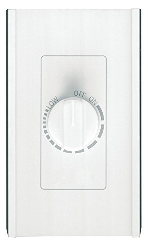 Broan-NuTone 72W Variable Speed Electronic Wall Control, Dial Knob Control, 6 Amp, 120V, White