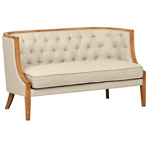 """Stone & Beam Laurel Rounded Loveseat Sofa Settee Couch, 57.1""""W, Sand"""
