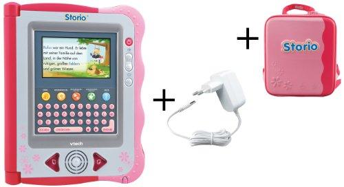 Vtech 80-115664 - Storio Deluxe Bundle inklusiv Tragetasche und Netzadapter, rosa