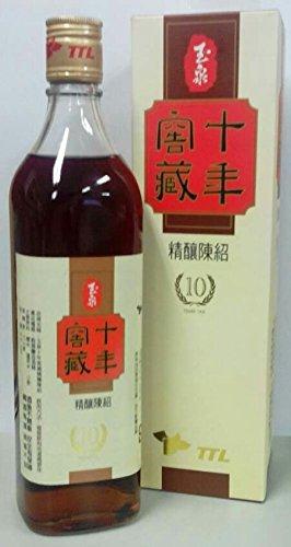 横浜中華街 TTL 台湾 十年窖蔵(10年)精醸陳年紹興酒(玉泉)  17.5度、600ml、台湾の純粋天然醸造酒♪