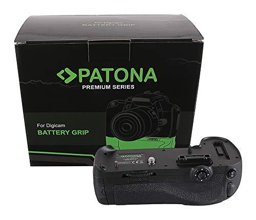 PATONA 1496 - Repuesto para empuñadura de batería Nikon MB-D12 para D800 D800E D810 D810A con mando a distancia IR (compartimento de batería para 1X EN-EL15 o EN-EL18A y 8X AA)