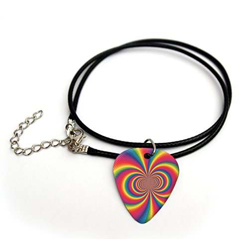 'Psychedelic Printed Guitar Pick Necklace 18# 6
