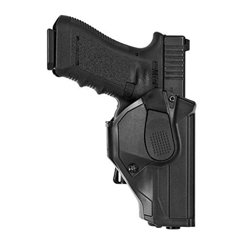 Fondina Vega polimero cama CCH804 per glock 17 18 22 31 37 - Opzione NERO-DX