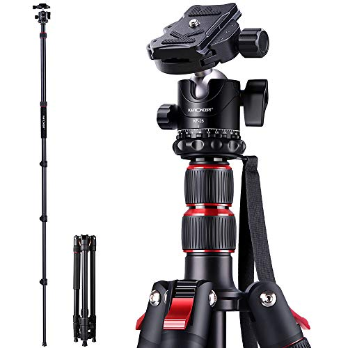 K&F Concept S210 78 inch Camera Tripod for DSLR Compact Aluminum Tripod with 360 Degree Ball Head and 8kgs Load for Travel and Work