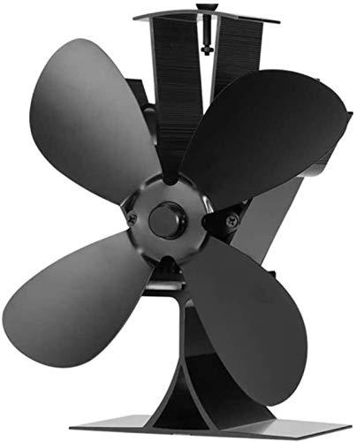 NAYY 4-Blatt Holzofen Ventilator Wärme versorgen for Holz/Log-Brenner oder Kamin Ruhig Design-Thermometer inklusive Circulates Warm/erwärmter Luft, Umweltfreundlich und wirtschaftlich