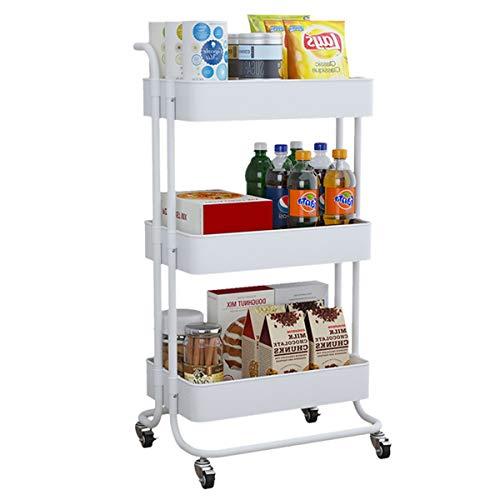 Carros de almacenamiento Carrito de almacenamiento de 3 niveles, estante de almacenamiento de cocina Torre de diapositiva delgado Movible Moble Mobble Plástico Baño Estante Rueda Espacio Ahorro Organi