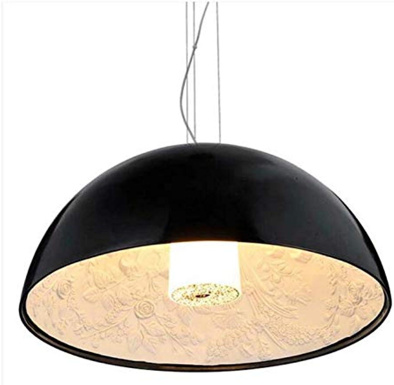 Chandeliermodern Pendelleuchte Led Lampe Skygarden Anhnger Dome Form Harz Malerei Esszimmer Pendelleuchte, Schwarz, Dia 40 Cm