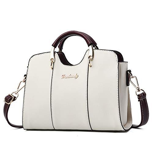 JYH Damen Brieftaschen und Handtaschen Mode Messenger Taschen Damen PU Leder Handtaschen Umhängetaschen Umhängetaschen,Weiß
