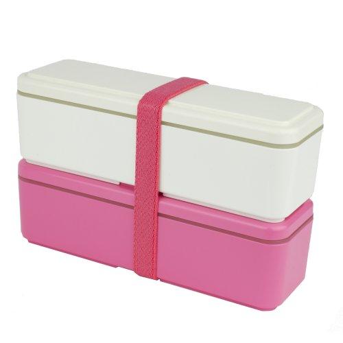 Miyoshi Works Lunch Box Gel-Cool fit Slim SS White × Pink GC-430