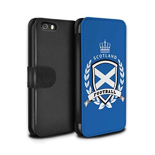 STUFF4 PU Pelle Custodia/Cover/Caso/Portafoglio per Apple iPhone 5/5S / Scozia/scozzese / Emblema del calcio disegno