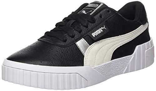 PUMA Cali Varsity WnS, Zapatillas Mujer, Negro Black White Silver, 39 EU